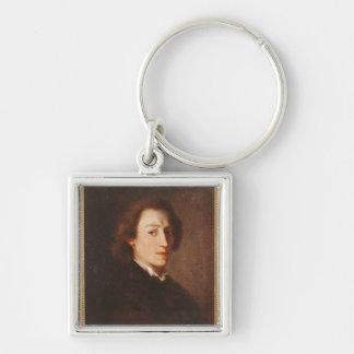 Federico Chopin Llavero Cuadrado Plateado