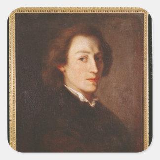 Federico Chopin Pegatina Cuadrada
