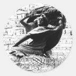 Federico Chopin Pegatina Redonda