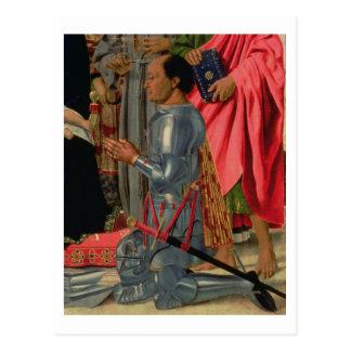 Federico da Montefeltro, detail from the Brera Alt Postcards