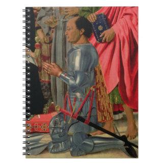 Federico da Montefeltro, detalle del Brera Alt Libretas Espirales