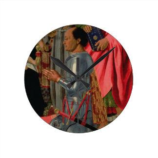 Federico da Montefeltro, detalle del Brera Alt Reloj Redondo Mediano