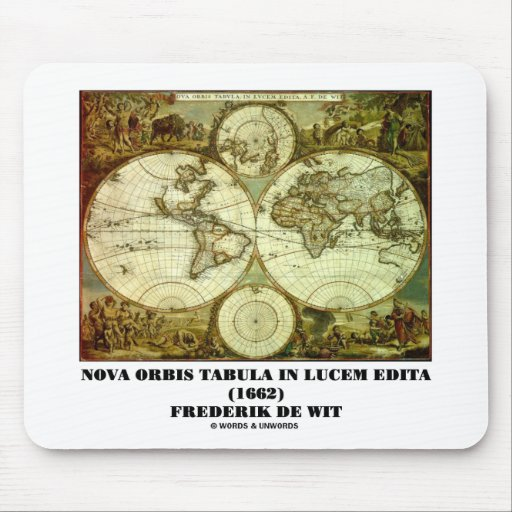Federico de Wit Nova Orbis Tabula en Lucem Edita Tapetes De Ratones