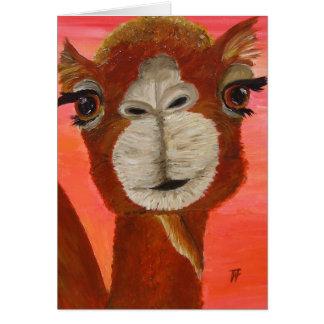 Federico el camello lindo - tarjeta de felicitació