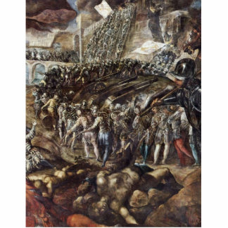 Federico Ii Gonzaga Conquers Parma. By Tintoretto Cut Outs