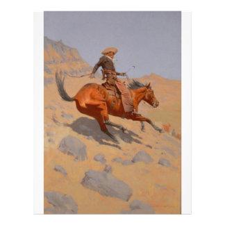 Federico Remington - el vaquero Tarjeton