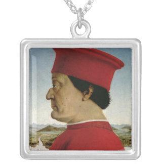 Federigo da Montefeltro  Duke of Urbino, c.1465 Silver Plated Necklace