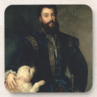 Federigo Gonzaga, Duke of Mantua, c.1525-30 (oil o Beverage Coaster