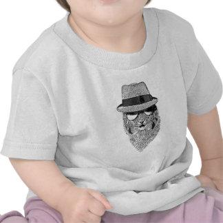 Fedora Bob blanco y negro Camiseta