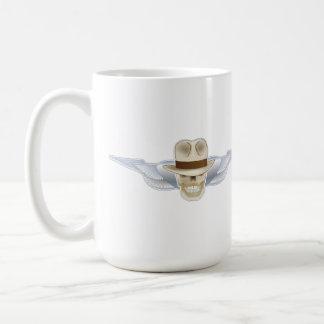 Fedora Chronicles Flying Skull wings mug. Coffee Mug
