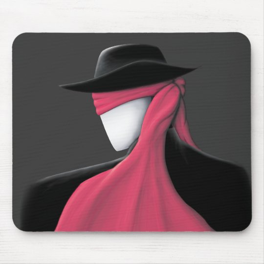 Fedora Man with red scarf Mouse Pad