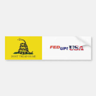 FedUpUSA - Don't Tread On Me Bumper Stickers