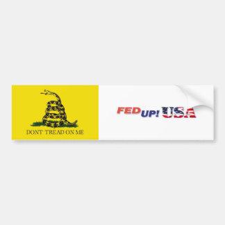 FedUpUSA - Don't Tread On Me Car Bumper Sticker