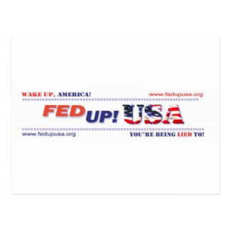 FedUpUSA Gear Postcard