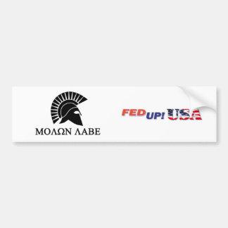 FedUpUSA Molon Labe Sticker Bumper Sticker