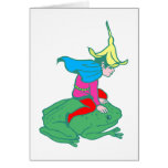 Fee fairy frog frog greeting card