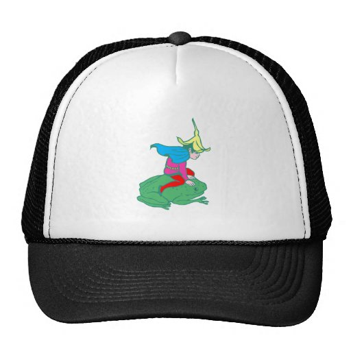 Fee fairy frog frog trucker hat