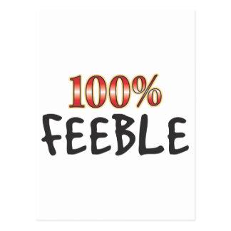Feeble 100 Percent Postcard