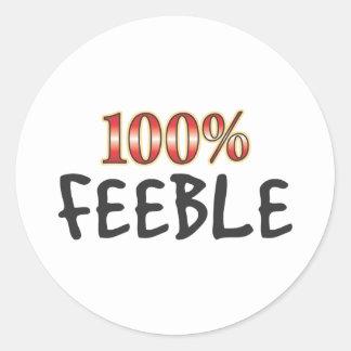 Feeble 100 Percent Round Stickers
