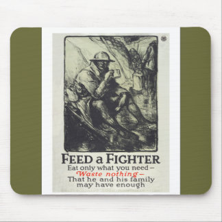 Feed A Fighter Mouse Pad