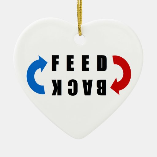 Feed back red and blue ornamentos de reyes