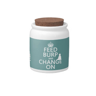 Feed Burp and Change On (baby) (any color) Candy Jar