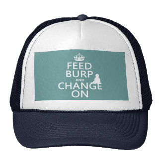 Feed Burp and Change On (baby) (any color) Hat
