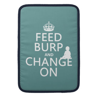 Feed Burp and Change On (baby) (any color) MacBook Air Sleeve