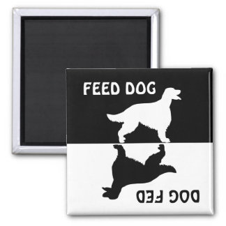 Feed dog, dog fed, Irish Setter fridge magnet
