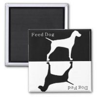 Feed Dog / Dog Fed Magnet : Pointer / Visla