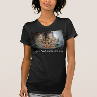 Feed Feral Cats Fine Jersey Black T-Shirt