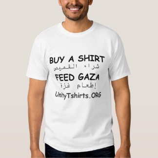 Feed Gaza (front and back printing) - Customized Tee Shirt