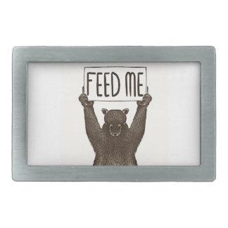 Feed Me And Tell Me I'm Pretty Bear Belt Buckle