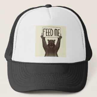 Feed Me And Tell Me I'm Pretty Bear Trucker Hat