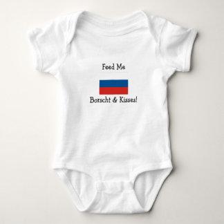 Feed Me Borscht & Kisses! Baby Bodysuit
