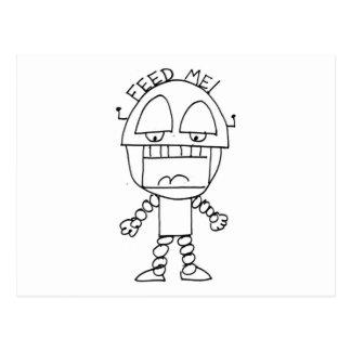 Feed Me Bot Postcard