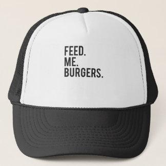Feed Me Burgers Print Trucker Hat