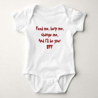 Feed me, burp me, change me...BFF Baby Bodysuit