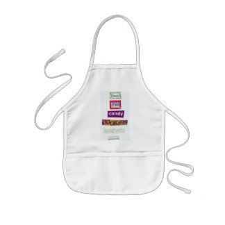 feed me candy cookies spaghetti pizza kids' apron