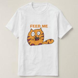 Feed me cat cartoon T-Shirt