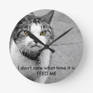 feed me cat clock