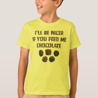 Feed Me Chocolate K T-Shirt