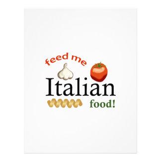 FEED ME ITALIAN LETTERHEAD