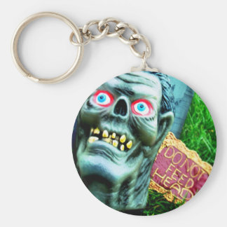 Feed Me Basic Round Button Keychain