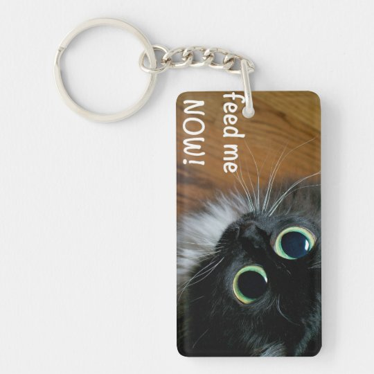 feed me NOW! Keychain