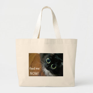 feed me NOW! Large Tote Bag
