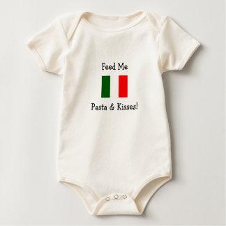 Feed Me Pasta & Kisses! Baby Bodysuit