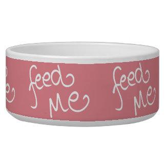 Feed Me (pink-rev) Bowl