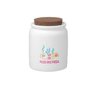 Feed Me Pizza Candy Jar