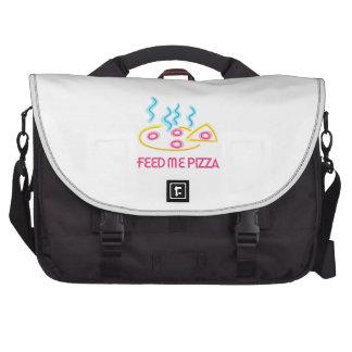 Feed Me Pizza Laptop Messenger Bag